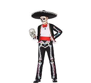 Atosa-55630 Disfraz Esqueleto para Niño Infantil Color negro 3 a 4 años (55630