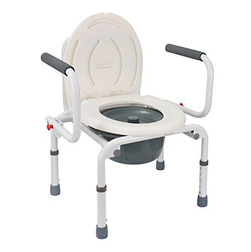 QXJPZ Toilettenring-Toilettenschemelhandlauf kann die älteren behinderten behinderten Toilettenhandlauf der älteren Frauen justieren