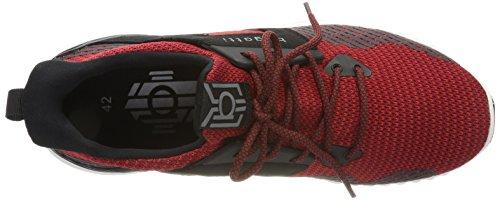 Bugatti 342394616959, Sneaker Uomo Rot (Red/ Black)