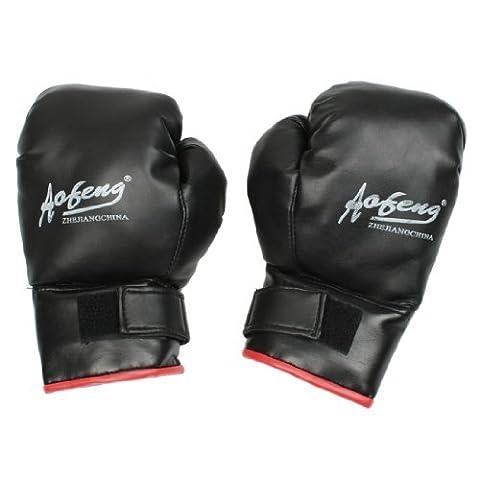 Dimart Adult Training Black Faux Leather Coated Wrist Wrap Boxing