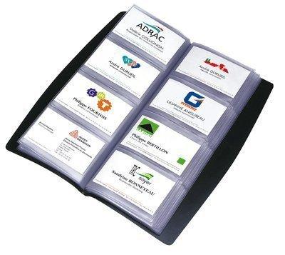 Elba Elégance - Álbum para tarjetas de presentación (capacidad para 240 tarjetas), color negro