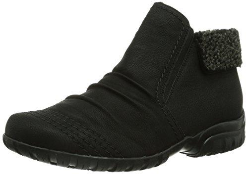 Rieker Damen L4684 Kurzschaft Stiefel, (schwarz/anthrazit / 00), 42 EU