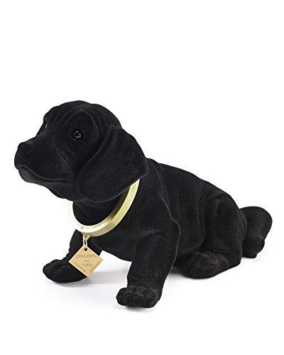 myHomery Wackeldackel original - Wackelfiguren fürs Auto - Hund mit Wackelkopf - Dackel als Wackelhund - Wackel Hund in groß und klein - 19cm & 29cm Schwarz | 19cm