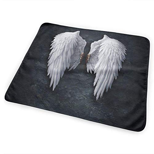 Voxpkrs Wickelunterlage Windelwechselmatte Angel Wings Funny Pattern 25.5 x 31.5 ()
