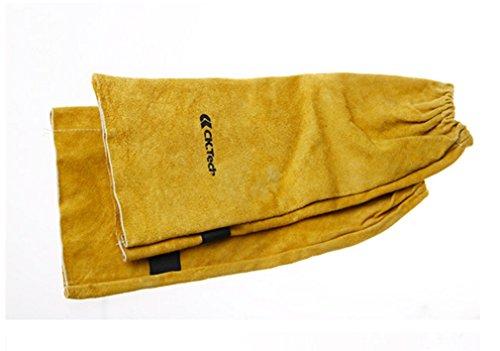 Ärmelschoner für Schweißer, Schweißerschutzärmel mit Klettverschluss,aus Rind-Spaltleder,480mm, 1 (Schweißer Maske Kostüm)