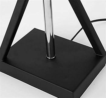 Atmko®black Reading Floor Lamp Fabric Lampshade Wrought-iron Lamp Base Living Room Bedroom Bedside Modern Lighting Decor 6