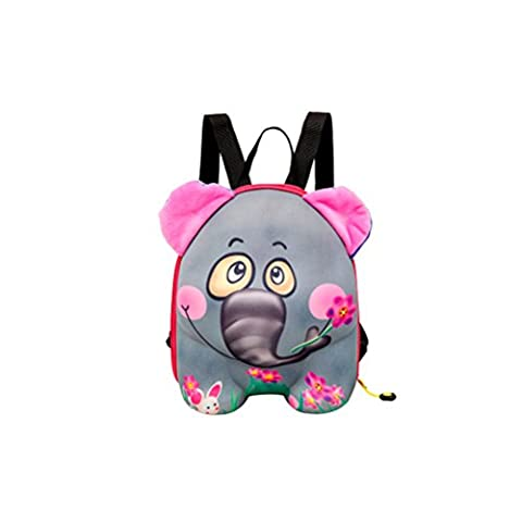 Generic Cute Cartoon Kids Children Bag For Boys Girls Baby Backpack Zoo Anime Schoolbags Lunch Box Backpack-Elephant