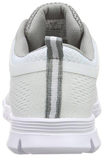 L.A. Gear Malibu Damen Sneakers Weiß (Off White 02)