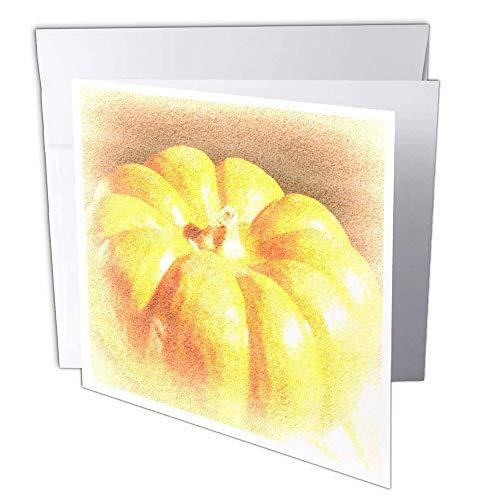 '(GC 33863_ 1orange Kürbis art- Thanksgiving-Grußkarte, 6x 6cm, 6-teilig
