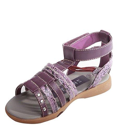 Mädchen Riemchen Sandalen Gr.28 Sandaletten Sommerschuhe Freizeitschuhe lila