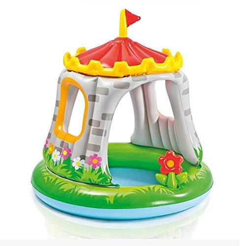 wadwo Baby Pool Zelt Kunststoff Sonnenschirm Spiel Haus Tragbare Aufblasbare Kinder Schloss Spielzeug Haus