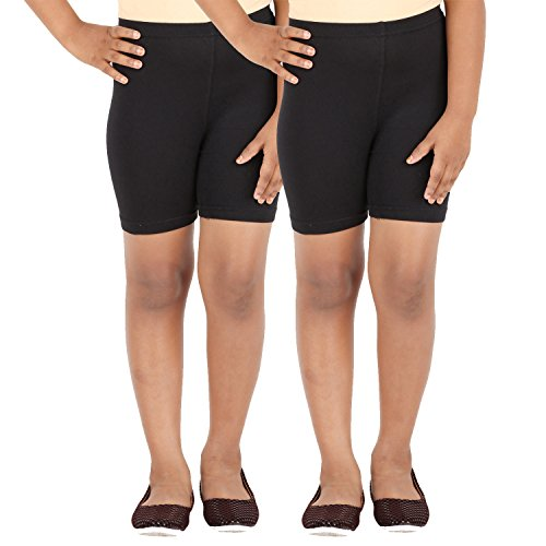 SCHOOL GIRL'S SPANDEX SHORTS PACK OF 2