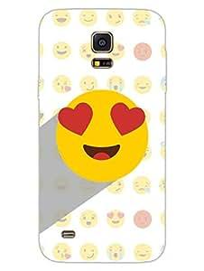 Samsung S5 Mini Cover - Whatsapp Emoji - Heart Eyes - Designer Printed Hard Shell Case
