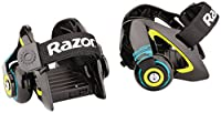 Attachez vos nouveaux rollers et préparez-vous au décollage avec les rollers Jetts de Razor. Réglables, faciles à mettre et à enlever, transformez vos baskets ordinaires de la façon la plus originale possible et c'est parti. Impressionnant !Facile à ...