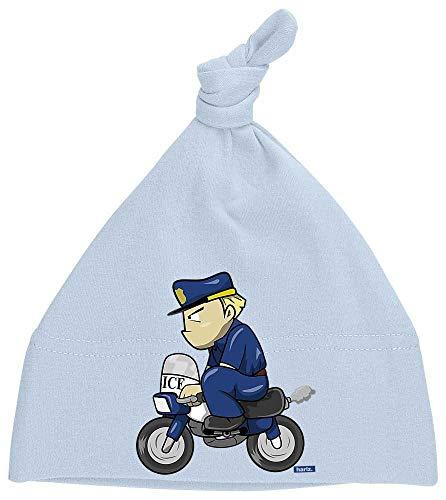 Kostüm Cop Baby - HARIZ Baby Mütze Knoten Polizist Lustig Motorrad Polizei Cops Plus Geschenkkarten Himmel Hell Blau