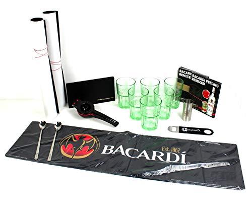 Bacardi Cocktailpaket 6er Set Gläser Flaschenöffner Barlöffel WMF Jigger Lemon Squeezer ~mn 527 1263 Glas Jigger