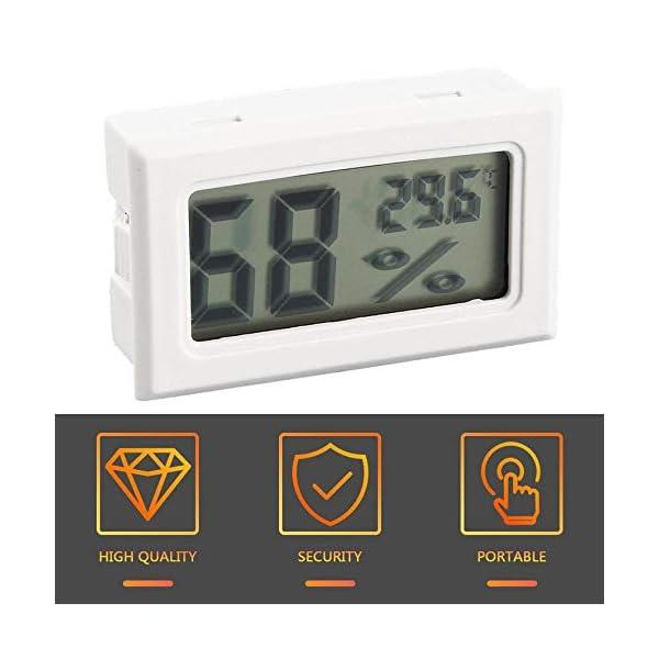 RoadRoma Mini LCD Digital termómetro higrómetro medidor de Temperatura de Humedad Interior (Blanco) 5
