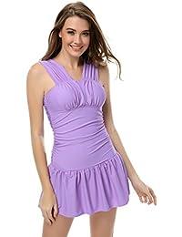 SZIVYSHI Femme 1 Pièce Maillot de Bain nager robe Monokini