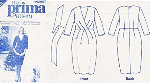 Prima Sewing Pattern December 2009, Ladys Dress. Sizes 10-20 Bust 83-107cm