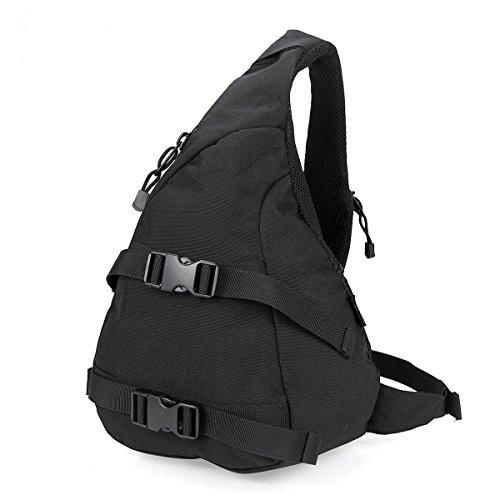 BULAGE Taschen Sport Outdoor Schulter Tasche Freizeit Brusttasche Lässig Atmungsaktiv Und Bequem Tragbar Kompakt Tornister Picknick Black