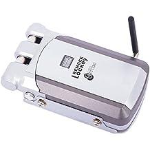 Remock Lockey - Cerradura de Seguridad Invisible con 4 mandos (nuevo modelo de mando), Plata