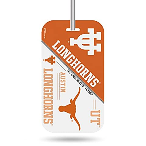 NCAA Texas Longhorns Crystal View Team Luggage Tag, Orange, White, 7.5-inches by 3-inches by