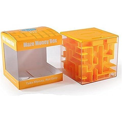 SainSmart Jr. Amaze CB-22 Cubo Labirinto Dei Soldi Banca-unico Puzzle Perfetto Per i Bambini (Giallo)