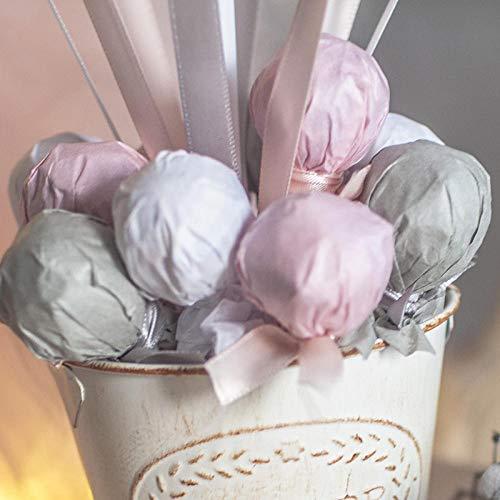 QAZWSX Heißluftballonbabygeburtstagsfeier-Anordnungsdekorations-Kinderfamilie der rosa Wellensittiche der Frucht@Lila Blau. Es gibt Zucker Papier, Zucker
