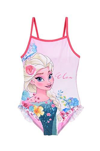 Die Eiskönigin - Frozen Mädchen Badeanzug Bademode (Pink 2, Größe 110)