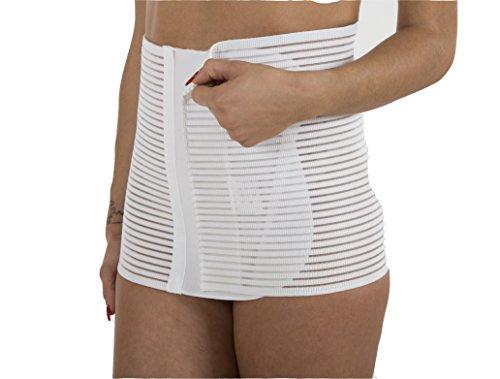 Premamy - fascia per premaman, modello contenitivo, tessuto traspirante, post parto - bianco - v (l)