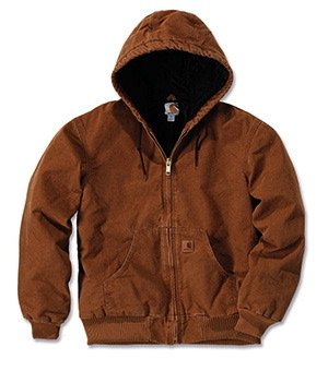 Carhartt J130 Quilted Flannel Lined Sandstone Active Jacket - Jacke, Carhartt Brown, M (Carhartt Mantel Active)