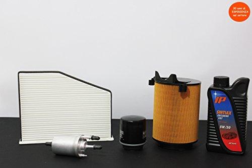 TAGLIANDO FILTRI + 4 LT OLIO Volkswagen GOLF VI PLUS / PASSAT 1.4 TSI 90 KW 122 CV MOTORE: CAXA DA 10/2008 AL 06/2010 REGOLATORE PRESSIONE INTEGRATO 6,6 BAR