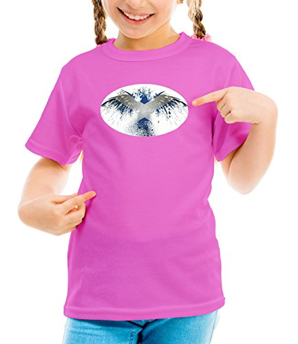 three-monkeys-watercolor-eagle-animals-collection-girls-classic-crew-neck-t-shirt-pink-large