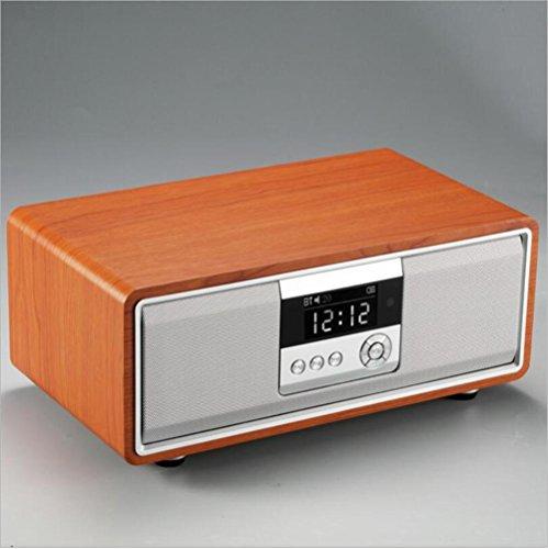 Bluetooth-Lautsprecher Drahtloser Spezieller Modus HIFI u. Fernsteuerungs Weizen Drahtloser K Lied 36W Hochleistungslautsprecher Subwoofer, Brown