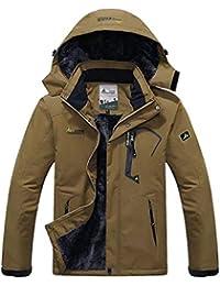 6f87e531e2ddd Unisexe Homme Femme Anorak Veste - Zippée Coupe-Vent Manteau Imperméable  Veste à Capuche Hiver
