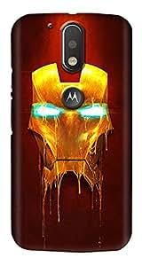 Meet Arts motoG4_Rd861 Back Cover for Motorola G4 Plus
