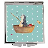 Mr. & Mrs. Panda Quadrat, Handtasche, Handtaschenspiegel quadratisch Pinguin Angelboot - Farbe...
