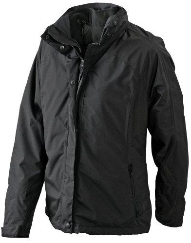 Multifunktionale Doppeljacke mit auszippbarer Fleecejacke für Damen Black/Black