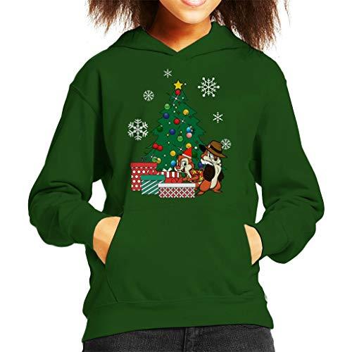 Cloud City 7 Chip N Dale Around The Christmas Tree Kid's Hooded Sweatshirt