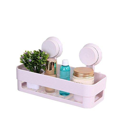 Itian Badezimmer Wasserdicht Saugnapf Regal, Lagerregale , Küchenregale (Weiß)