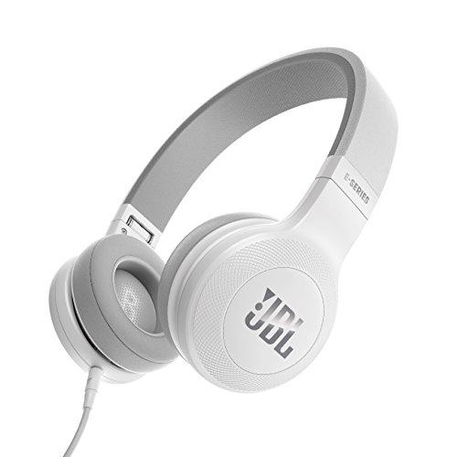 JBL E35 On-Ear Leicht Kopfhörer im Faltbaren Design mit 1-Tasten-Fernbedienung und Abnehmbarem Mikrofonkabel - Weiß