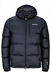 Marmot Men's Guides Down Hoody Ultra-Light Down Jacket, 700 Fill-Power, Warm Outdoor Jacket With Hood, Water Resistant, Windproof, Black, M