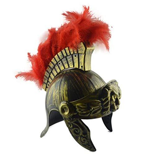 Super Bright Kunststoff-Samurai-Helm Spartan mittelalterlichen antiken römischen Vintage Helm Hut Feder Lion (Spartan Kostüm Frauen)