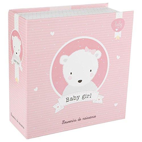 Boîte à souvenirs de naissance Fille - Coloris ROSE