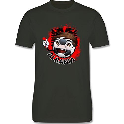 EM 2016 - Frankreich - Fußballjunge Albanien - Herren Premium T-Shirt Army Grün