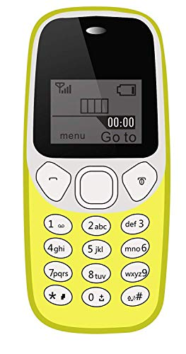 IKALL K74 Basic Phone with Vibration Single Sim 1.44 Inch Display (Yellow)
