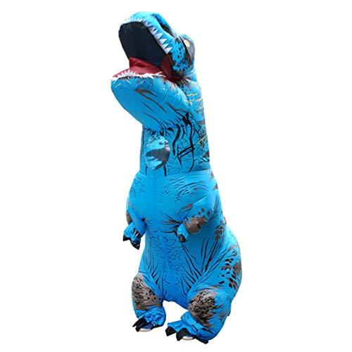 Happy Event Erwachsener aufblasbarer T-Rex Trex Dinosaurier Explosions Kostüm Klage Partei Spielzeug (Blau)