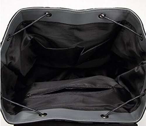 Damen Reise Big Rucksack Matt Replizieren Gefaltete Umhängetasche Lightgrey