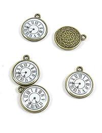 Abalorios de joyería de tono bronce antiguo 955096 reloj de bolsillo para manualidades y manualidades antique