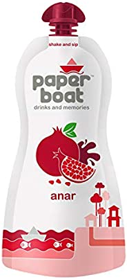 Paper Boat Anar, Pomegranate Fruit Juice, No Added Preservatives and Colours (Pack of 6, 200ml each)
